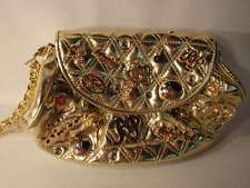 Baby Phat Gold Purse with Crystals & Bling
