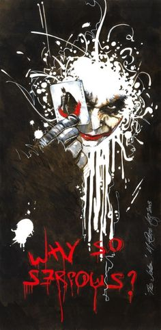 Why so serious? Joker love. Dark Knight. Heath Ledger
