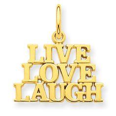 14K Gold Talking - Live Love Laugh Charm