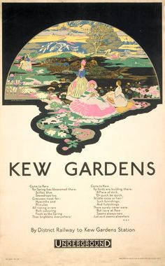 London Underground Kew Gardens Poster