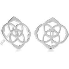 Kendra Scott Dira Stud Earrings in Silver ($50) ❤ liked on Polyvore featuring jewelry, earrings, kendra scott jewelry, silver stud earrings, kendra scott, medallion jewelry and silver medallion