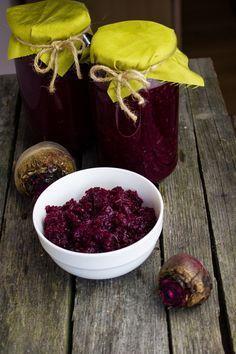 Buraczki tarte na zimę Preserves, Raspberry, Food And Drink, Pudding, Homemade, Canning, Dinner, Fruit, Desserts