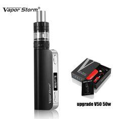Hot Vape Electronic Cigarette Vapor Storm V50 TC 50W Box Mod Hookah shisha pen 0.3ohm Vaporizer Temperature Control e cigarette