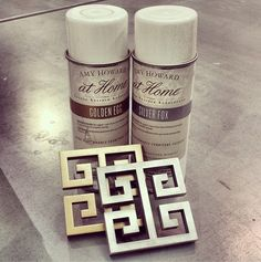 Ooh hello metallic lacquers!! #lacquer #goldandsilver #metallic #timetopaint #amyhowardathome #diy