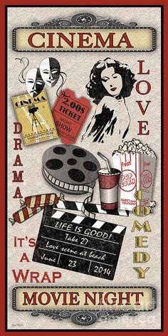 Cinema-jp2210 Digital Art by Jean Plout
