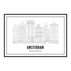 Brouwersgracht - Amsterdam kaart - wijck prints