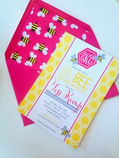 Bumble #bee themed #baby shower #invitation I Custom by Nico and Lala