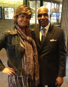 Memphis Mayor AC Wharton and Stramel PR owner/operator Sarah Stramel at News Channel 3.