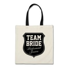 Custom Team Bride tote bags for wedding party Bags