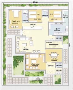 Architectural Design House Plans, Home Design Floor Plans, Square House Plans, Villa, Backyard, House Design, Make It Yourself, How To Plan, Architecture