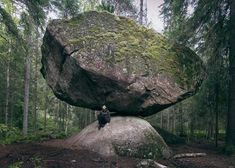 A Unique rock in the wilderness – the Kummakivi of Ruokolahti, Finland.