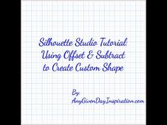 Offset & Subtract Cameo Tutorial - to make a background pattern fit into a shape