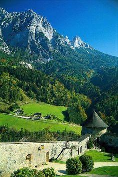 Hohenwerfen Castle, Salzburg, Austria.Brings back happy memories of my honeymoon - Austria in the Summer is beautiful