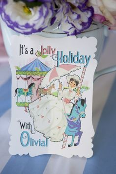 "Photo 18 of 30: Tea Party Mary Poppins Style / Birthday ""Mary Poppins Jolly Holiday Tea Party"" | Catch My Party"