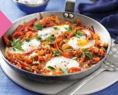 Turkish One-pan Eggs and Peppers