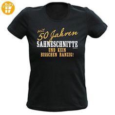 T-Shirt zum 50. Geburtstag für Damen / Frauen : seit 50 Jahren / Seit 50 Jahren Sahneschnitte - Damen Geburtstagsshirt Gr: S Farbe: schwarz (*Partner-Link)