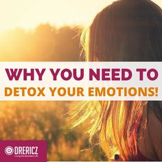 Not just for your body, you can store toxic experiences and feelings, which is why regular emotional detoxification is key to enjoying the Abundant Life!