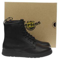 womens dr martens black newton mono 8 eye boot boots