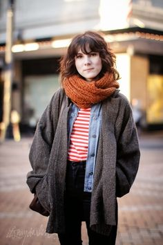 chunky knits + scarf #winter #fashion #looks