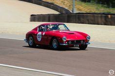 #Ferrari #250 #GT #Berlinetta sur la piste de #Dijon_Prenois au #GPAO Article original : http://newsdanciennes.com/2015/06/07/news-danciennes-au-grand-prix-de-lage-dor/ #Racecar #VintageCar #ClassicCar