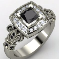 my FAV black diamond ring, so far, from Gemvara