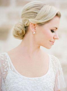 A Soft Bridal Updo
