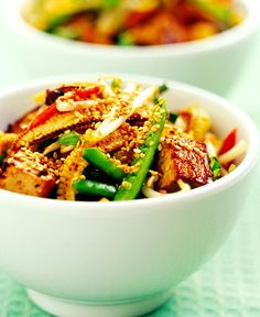 Crispy Sesame Tofu with Vegetables