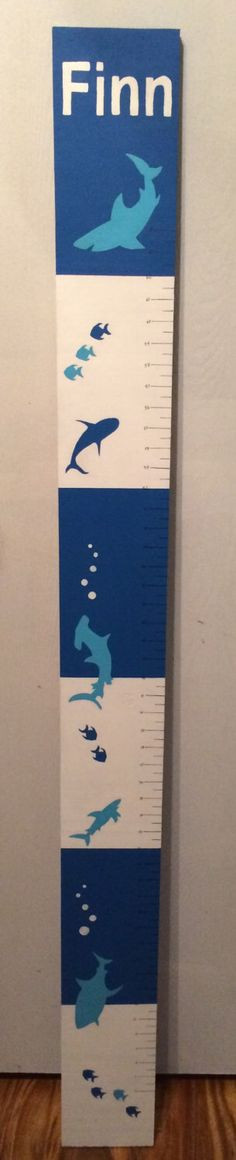 Personalized Growth Chart - Shark Nursery - Underwater Theme by SirenStormStudios on Etsy https://www.etsy.com/listing/207807198/personalized-growth-chart-shark-nursery