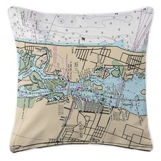FL: Vero Beach, FL Nautical Chart Pillow
