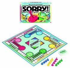 Sorry --- http://www.amazon.com/Hasbro-Sorry/dp/B009GKSIXG/?tag=kelansmobilem-20