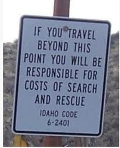Search and Rescue Warning