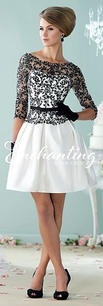 black and white dress with lace leaves 1300 dollars