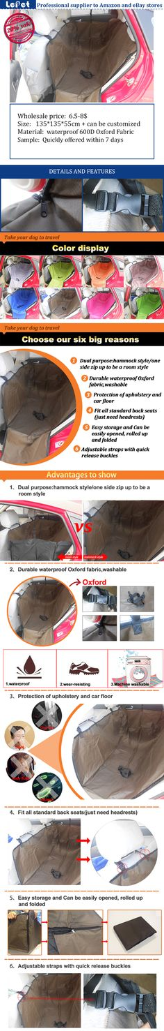 Lepetco is a wholesale manufacturer of Oxford dog seat cover and dog car seat cover hammock with reasonable price for 7 years. We are looking for worldwide partner and wholesalers Any interest and more details,please check: www.lepetco.com Best Regards Lepet Family Mail:sales01@lepetco.com Tel: 86-022-28424860