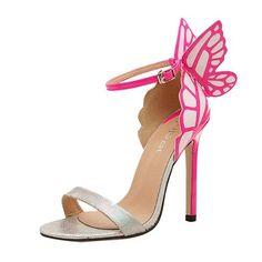 Minetom Damen Frauen Sommer schleife Schmetterling Schuhe High Heel Sandalen Pumps Abendschuhe ( Silber EU 38 ): Amazon.de: Bekleidung