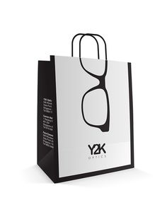 Y2K Optics Paper Bag Design on Behance