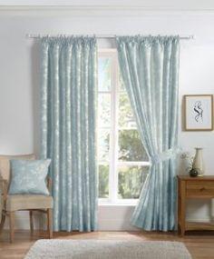 duckegg curtains - bedroom