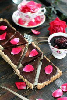 Sugar Free Chocolate Ganache Tart