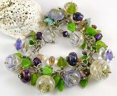 Driftwood Blossom Bracelet Beaded Rings, Lampwork Beads, Driftwood, Pandora Charms, Glass Beads, Charmed, Bracelets, Places, Inspiration