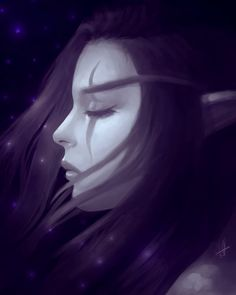 Night Elf, Kaldorei by Zaelii-Jay on DeviantArt World Of Warcraft Characters, Fantasy Characters, Dark Fantasy Art, Fantasy World, Elf Drawings, Female Elf, Warcraft Art, Night Elf, Portraits