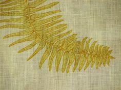 Fern Star in Yellow – Lauren Liess Lauren Liess, Fern Frond, Fabric Pictures, Luxury Interior Design, Star Designs, Boho Pillows, Natural Linen, Ferns, Line Drawing