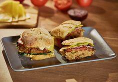 Doradca Smaku IX: Hamburger z indyka i cieciorki, odc. Ciabatta, Salmon Burgers, Hamburger, Food And Drink, Chicken, Ethnic Recipes, Burgers, Cubs