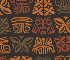 AlohaFlowers5d fabric by muhlenkott on Spoonflower - custom fabric