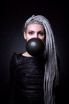 Caspian fashion photo , trash model alternative model ink dreads