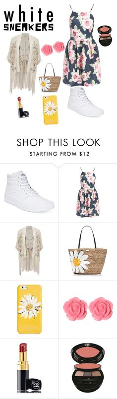 """white sneankers goes with everything"" by arianater ❤ liked on Polyvore featuring Vans, Sans Souci, Miss Selfridge, Kate Spade, Dollydagger, Chanel and Giorgio Armani"