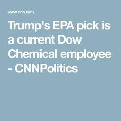 Trump's EPA pick is a current Dow Chemical employee - CNNPolitics