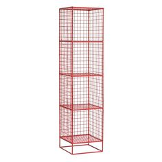 On the Grid 4-Cube Bookcase (Red) | The Land of Nod