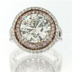 6.33ct Round Brilliant Cut Diamond Engagement Anniversary Ring