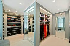 Walk in closet .. Fifth Avenue penthouse .. Manhattan, New York