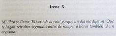 El sexo de la risa - Irene X