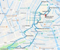 Mapa del primer día en Ámsterdam Amsterdam, Netherlands, Maps, Red Light District, Airports, Places To Visit, Cities, First Day, The Nederlands
